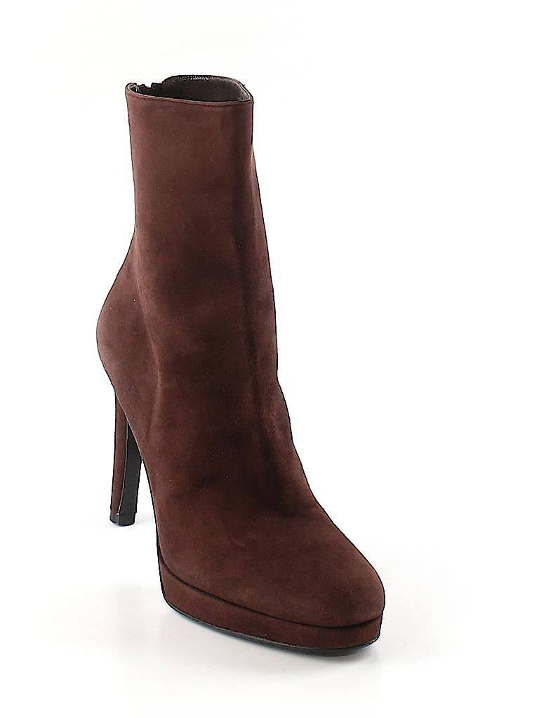 Stuart Weitzman Women Ankle Boots Size 10 1/2