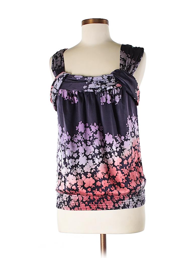 Matty M Women Sleeveless Silk Top Size M