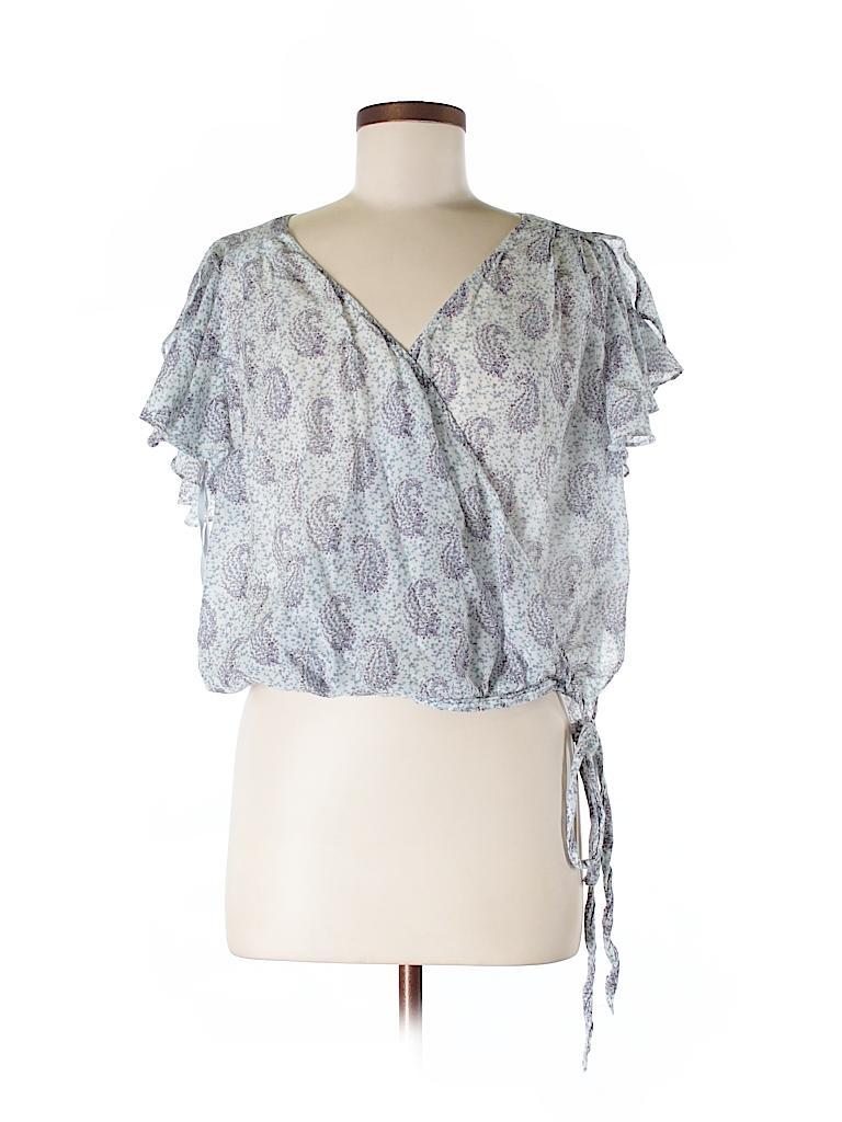 Moulinette Soeurs Women Short Sleeve Blouse Size 6