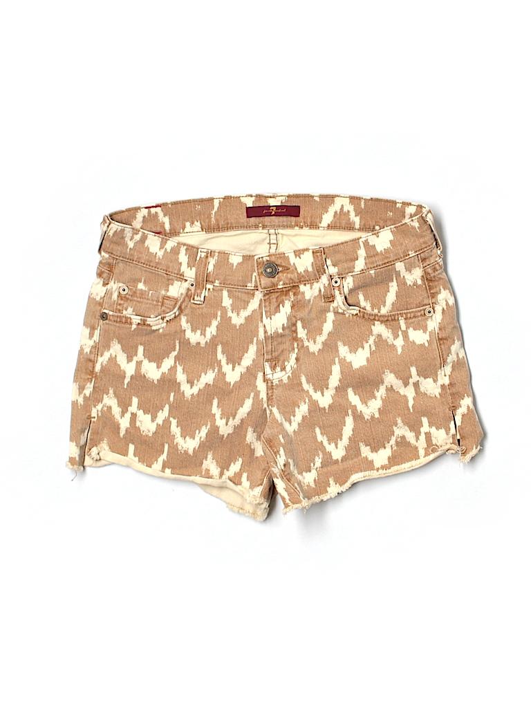 7 For All Mankind Women Denim Shorts 24 Waist