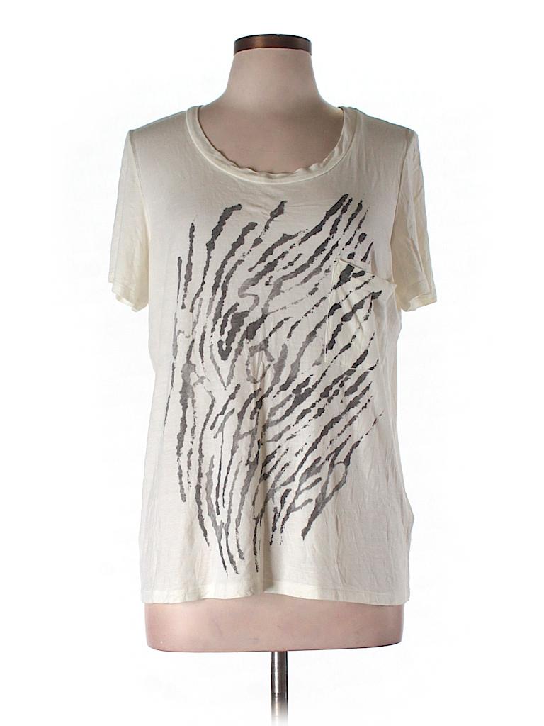 Haute Hippie Women Short Sleeve T-Shirt Size L