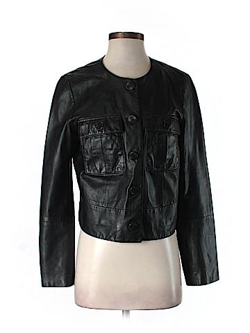 J. Crew Leather Jacket Size 8