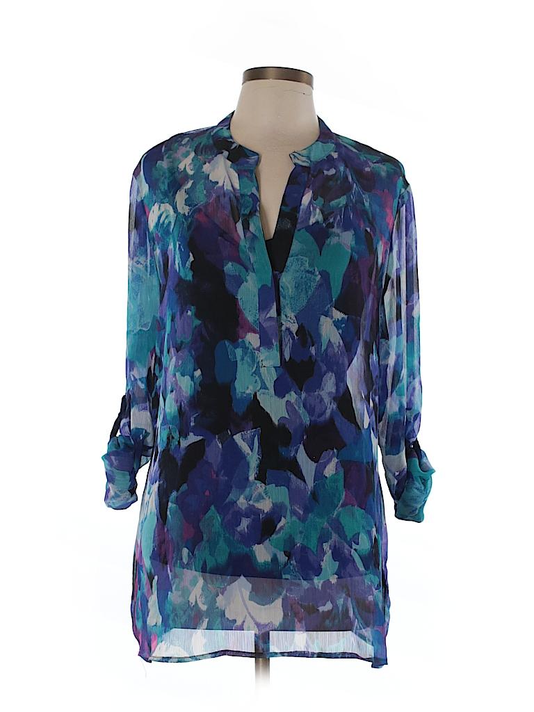 Fever Women Long Sleeve Blouse Size L