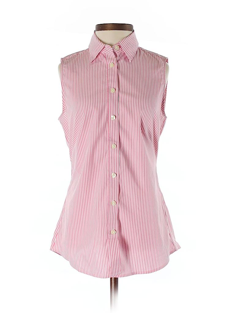 Banana Republic Women Sleeveless Button-Down Shirt Size 0