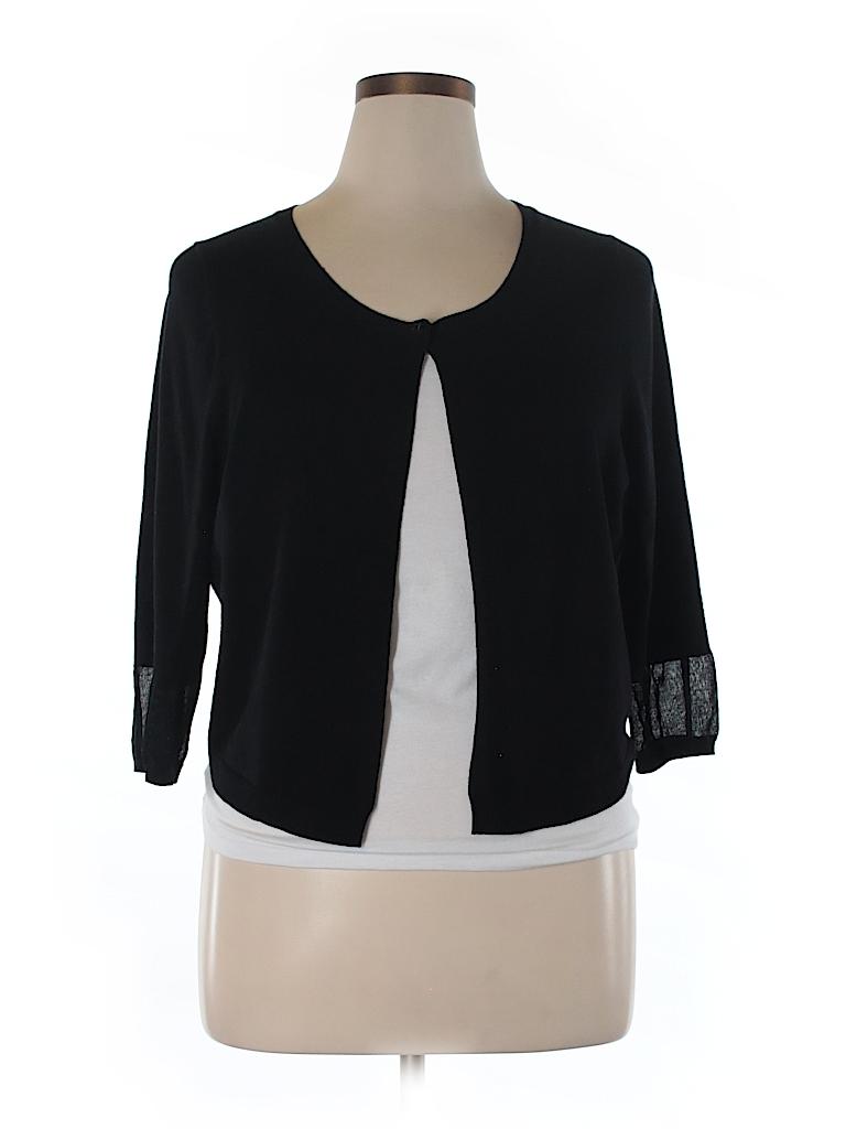 e8d8d249c4485 Lane Bryant Solid Black Cardigan Size 18 20 (Plus) - 75% off