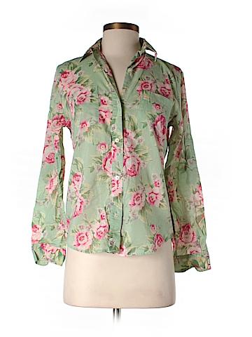 Lauren by Ralph Lauren Long Sleeve Button-Down Shirt Size S (Petite)