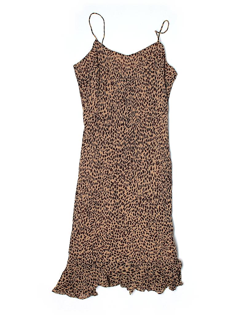 Ann Taylor Women Silk Dress Size 4 (Petite)
