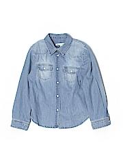 Bonpoint Long Sleeve Button-Down Shirt Size 6