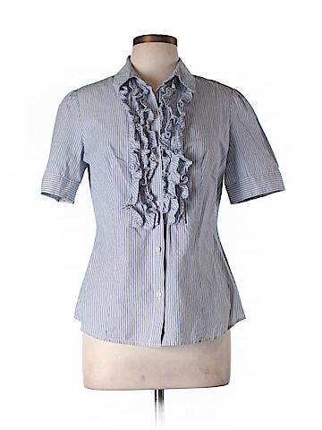 Moda International Short Sleeve Button-Down Shirt Size L
