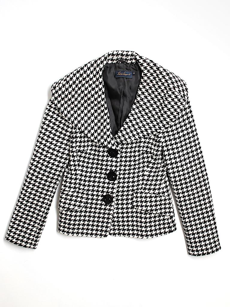 1e43855d45e0 Luisa Spagnoli Houndstooth Black Wool Blazer Size 42 (IT) - 74% off ...