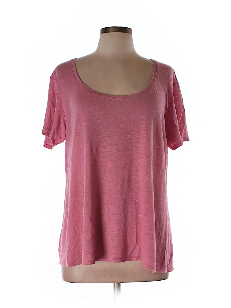 Eileen Fisher Women Short Sleeve T-Shirt Size L