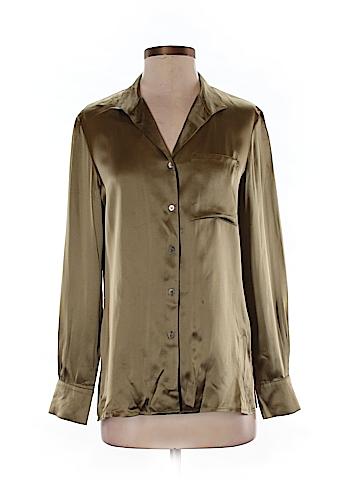 Calvin Klein Long Sleeve Silk Top Size 4