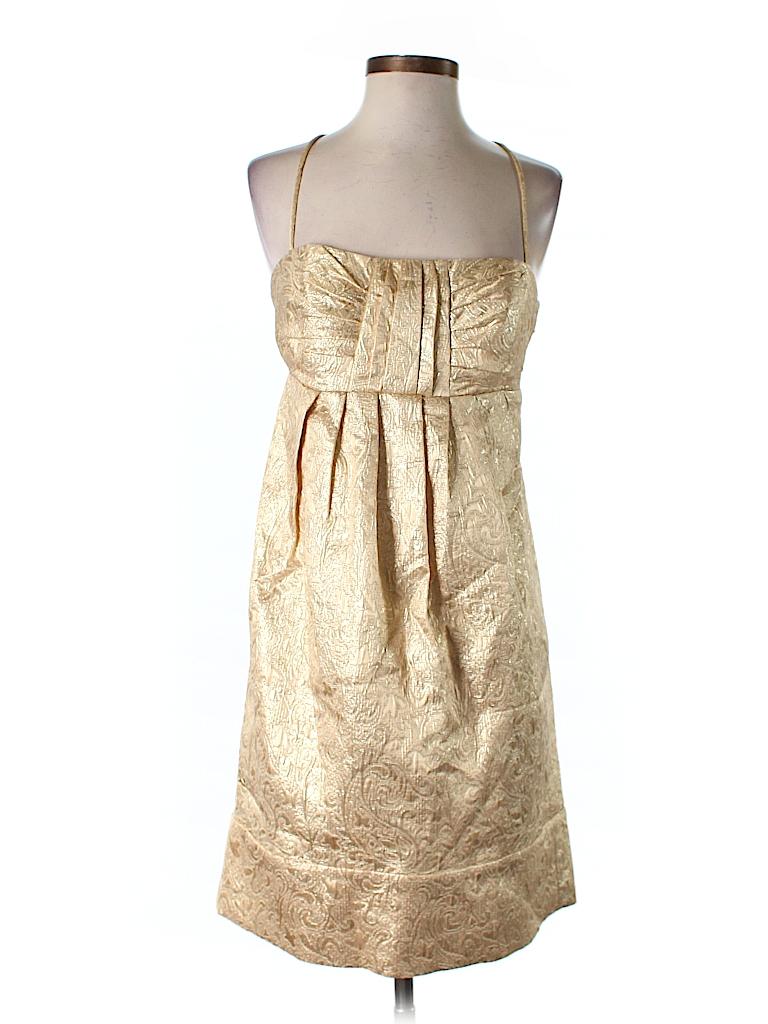 BCBG Paris Metallic Gold Cocktail Dress Size 8 - 70% off | thredUP