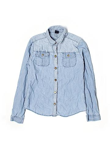Gap Kids Long Sleeve Button-Down Shirt Size X-Large (Kids)
