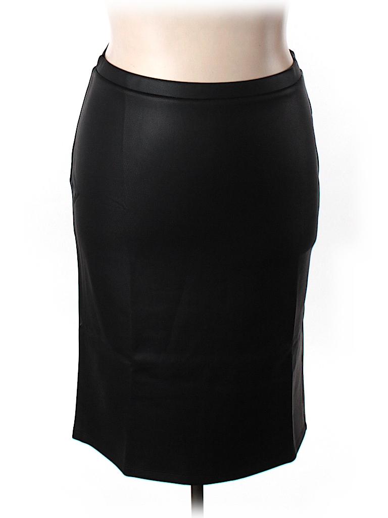bb dakota faux leather skirt 85 only on thredup