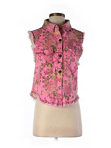 English Rose Denim Vest Size Sm/MED