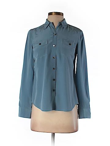 Ann Taylor Long Sleeve Silk Top Size 0 (Petite)