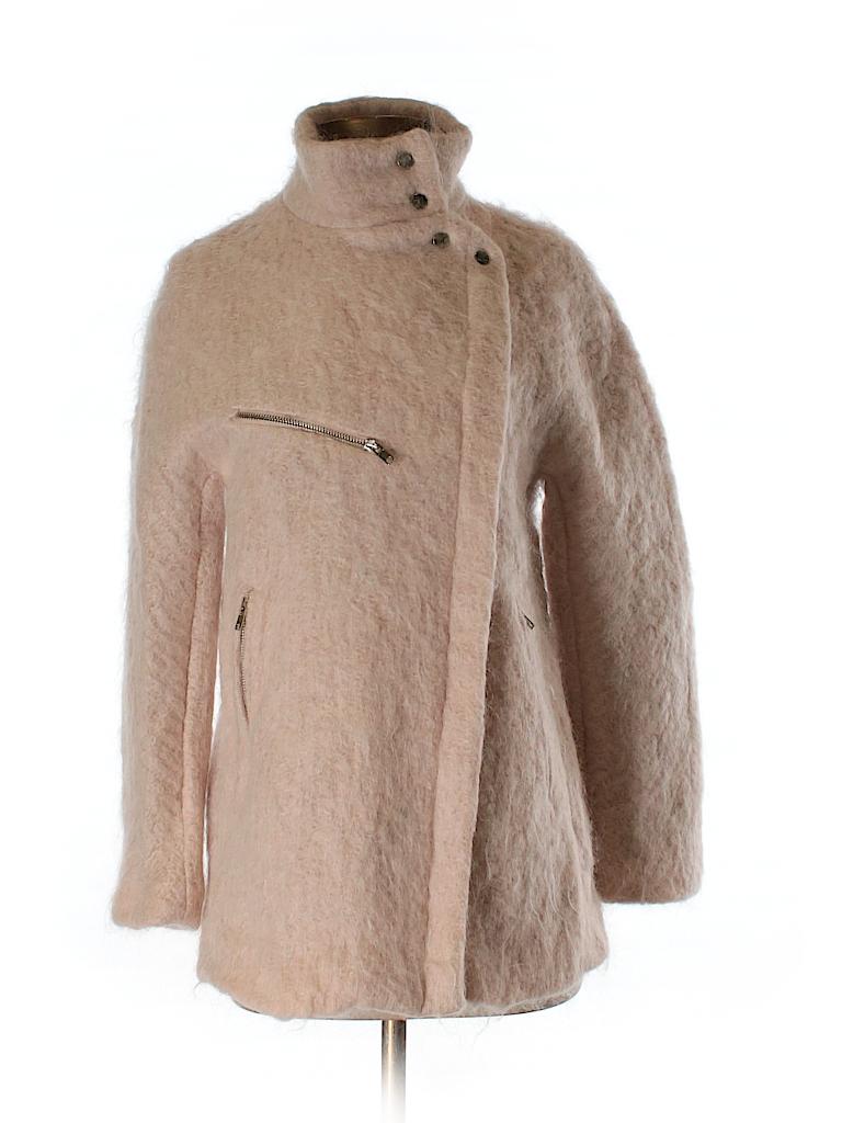 b0e07979b Zara Solid Light Pink Wool Coat Size S - 63% off