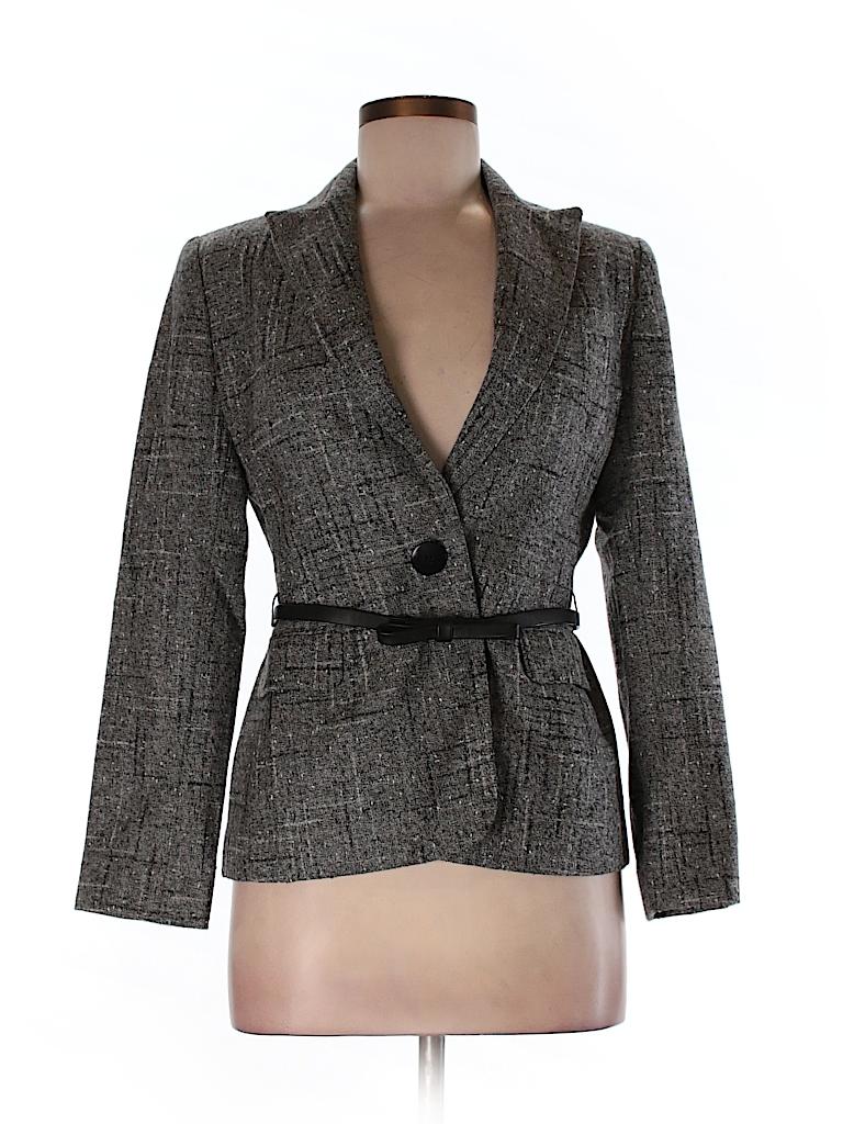 Anne Klein Women Wool Blazer Size 4 (Petite)