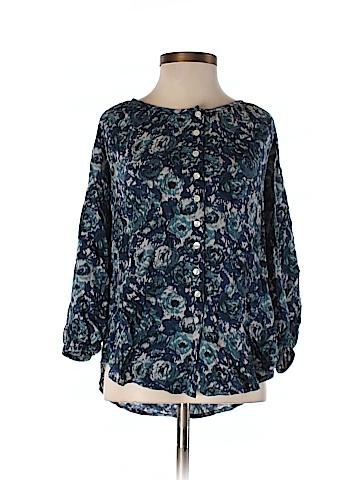 Lucky Brand 3/4 Sleeve Button-Down Shirt Size XS