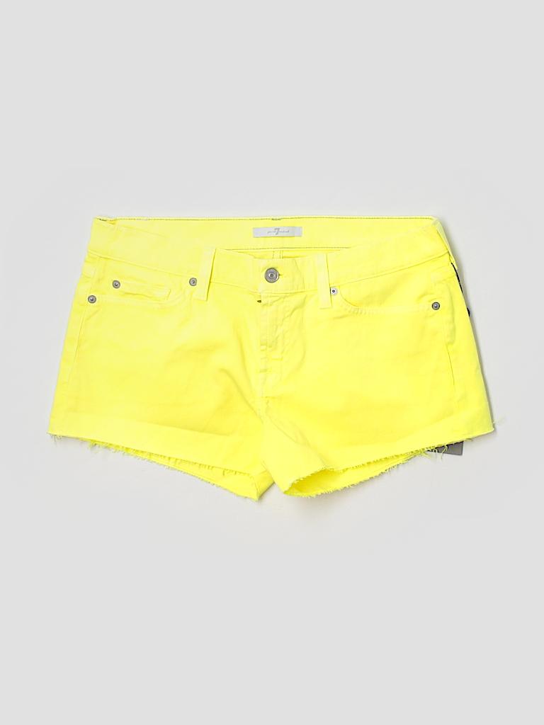 7 For All Mankind Women Denim Shorts 28 Waist
