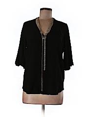 Maje Women 3/4 Sleeve Blouse Size Lg (3)