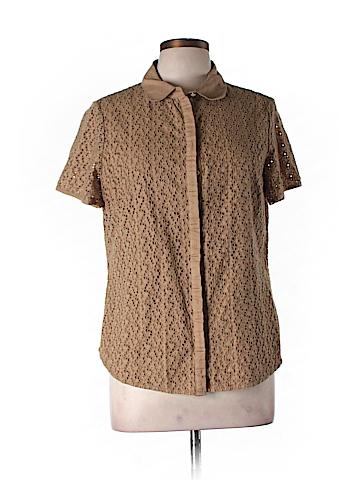 Boden Short Sleeve Button-Down Shirt Size 16 (UK)