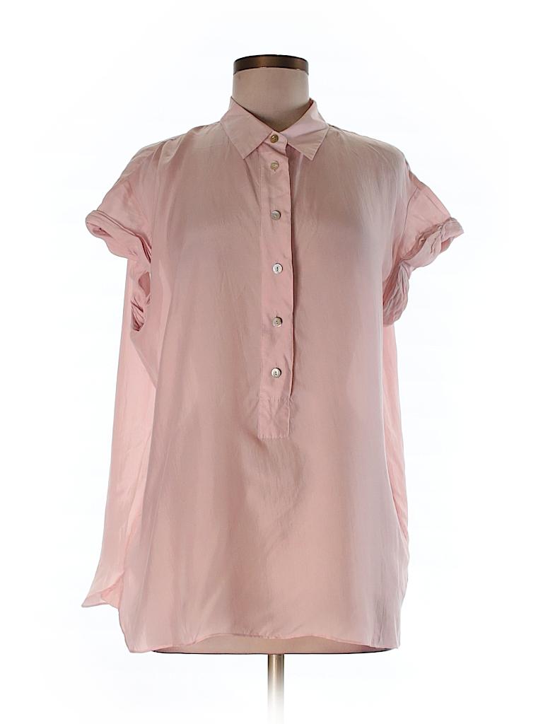 Calypso St. Barth Women Short Sleeve Silk Top Size XS