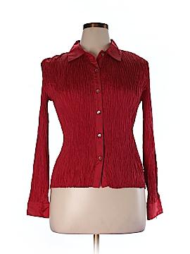 Sunny Leigh Long Sleeve Silk Top Size XL