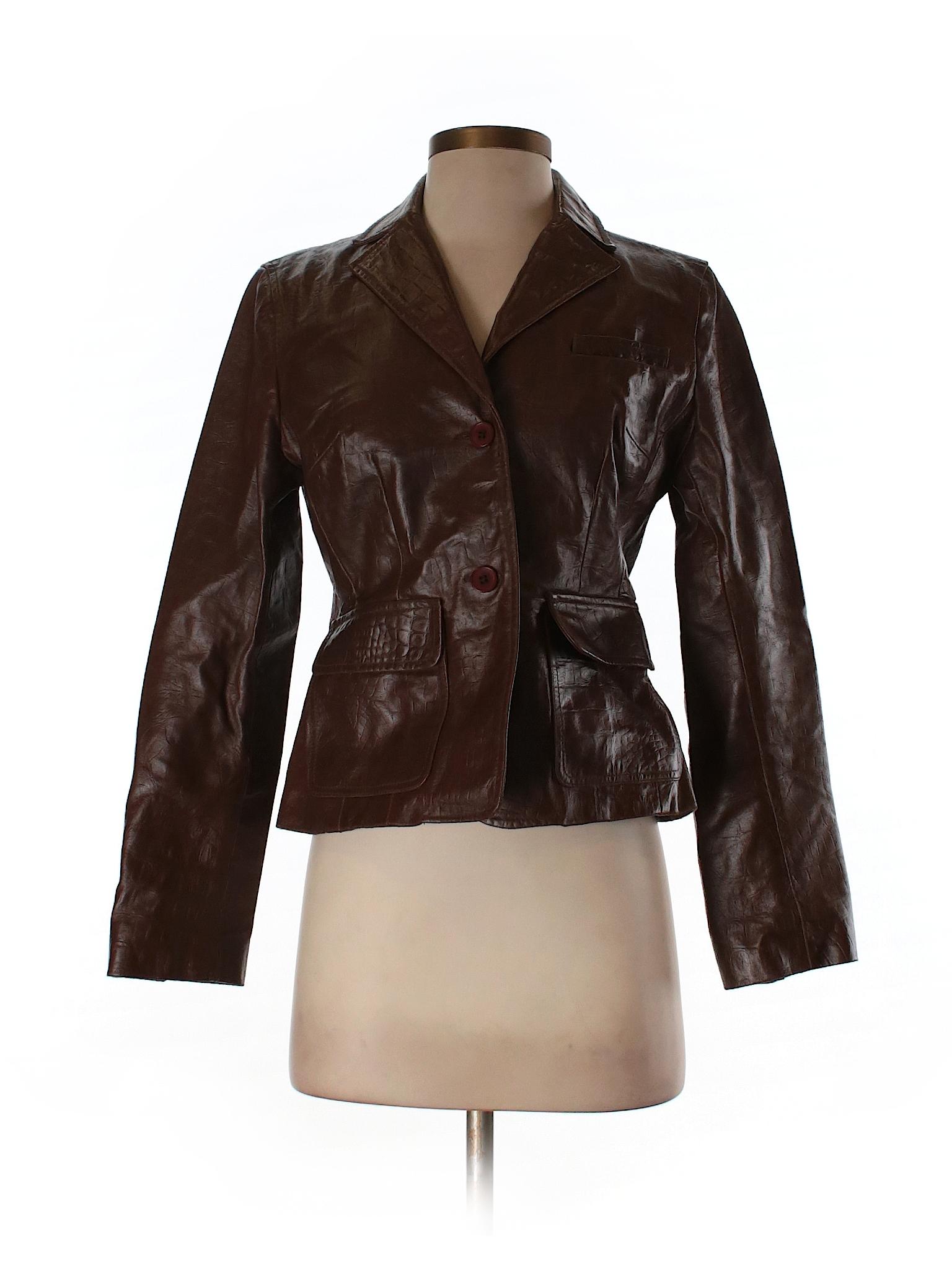 Ann taylor loft leather jacket