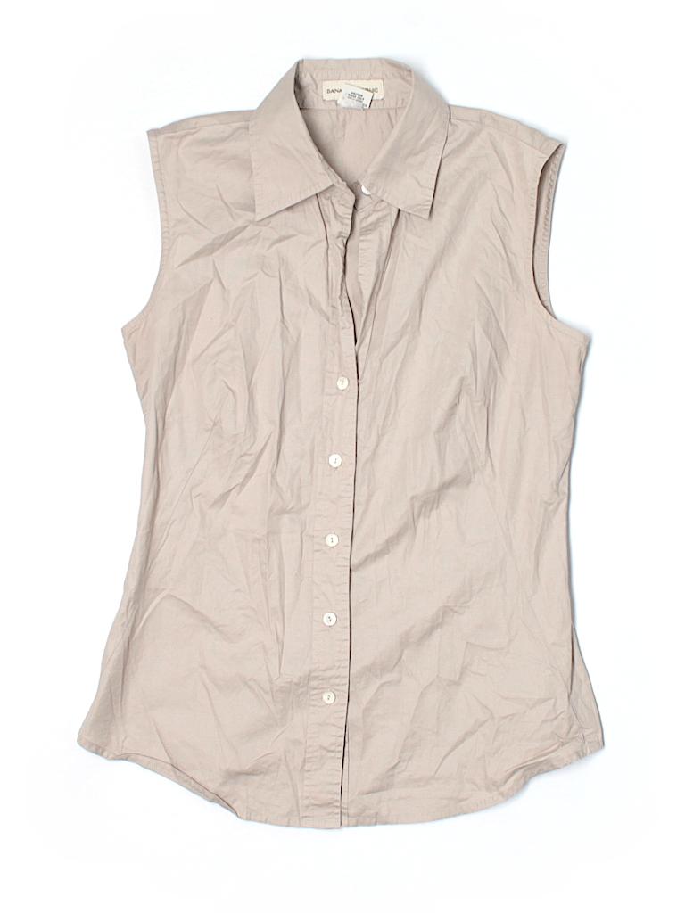 Banana Republic Women Sleeveless Button-Down Shirt Size XS