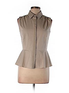 Elie Tahari Sleeveless Button-Down Shirt Size M