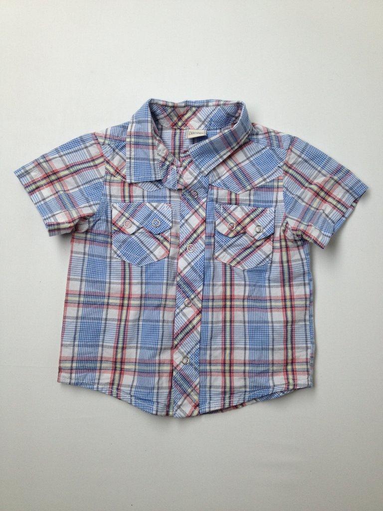 Old Navy Boys Short Sleeve Button-Down Shirt Size 12-18 mo