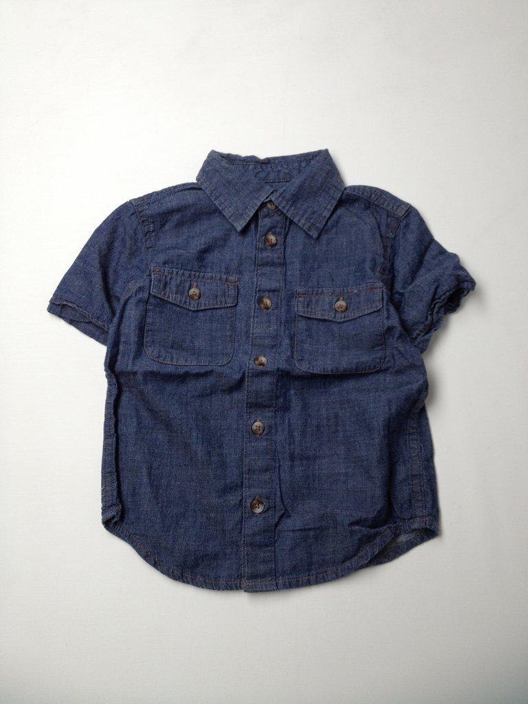 Arizona Jean Company Boys Short Sleeve Button-Down Shirt Size 4T