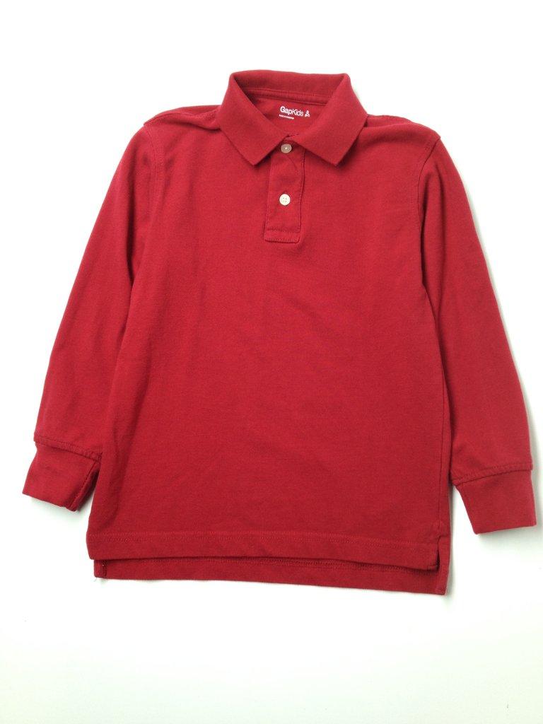 Gap Kids Boys Long Sleeve Polo Size 6/7