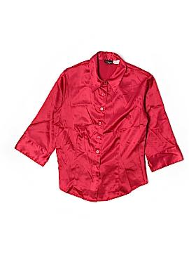 Boutique Europa 3/4 Sleeve Button-Down Shirt Size 6