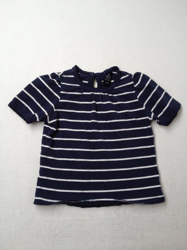 Nautica Girls Short Sleeve Top Size 12-18 mo