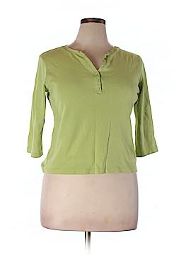 Karen Scott 3/4 Sleeve Henley Size XL (Petite)