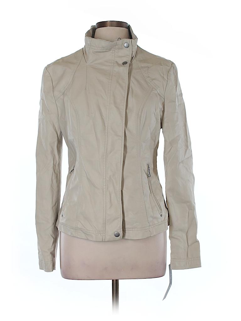 RD Style Women Faux Leather Jacket Size L