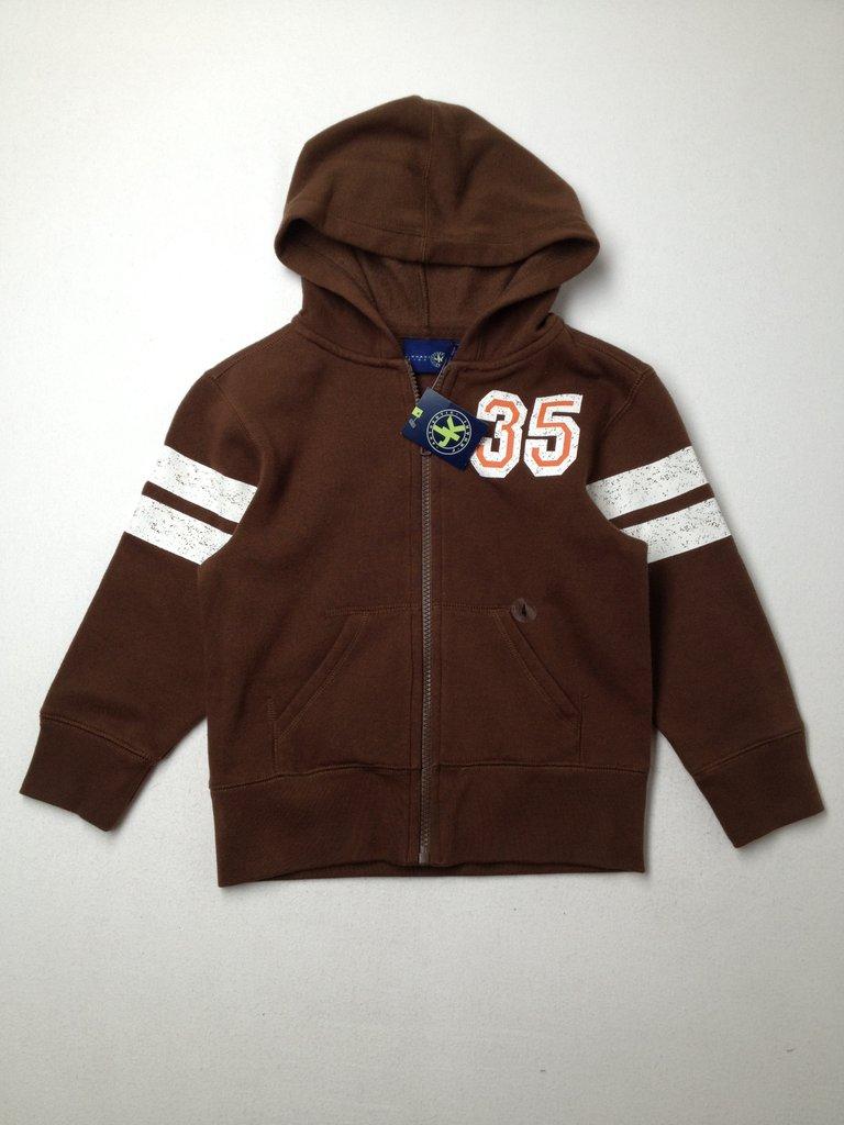 J. Khaki Boys Zip Up Hoodie Size 4