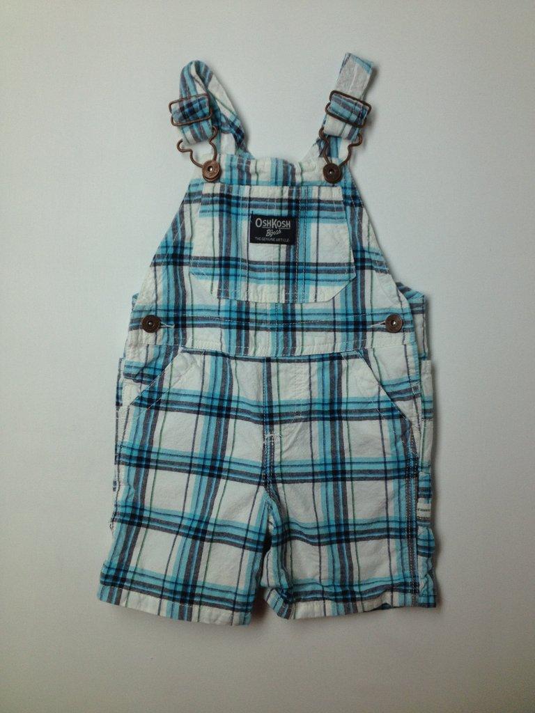 OshKosh B'gosh Boys Overall Shorts Size 12 mo