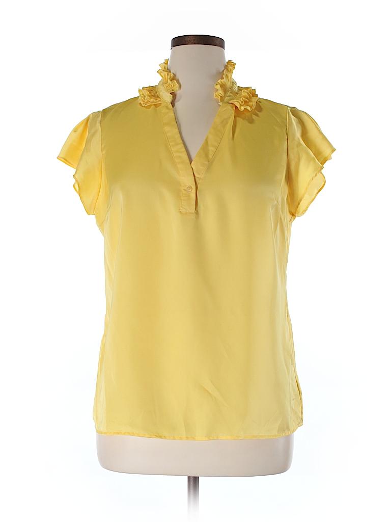 Sunny Leigh Women Short Sleeve Blouse Size XL