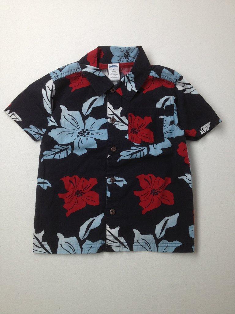 Gymboree Boys Short Sleeve Button-Down Shirt Size 4T