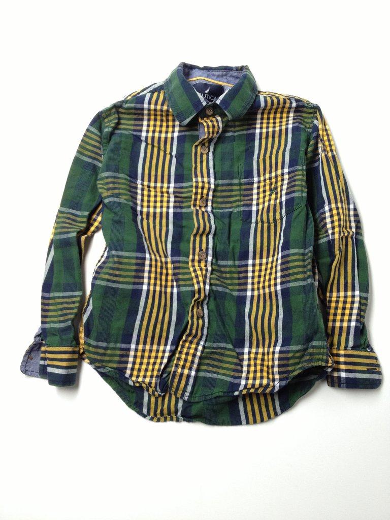 Nautica Boys Long Sleeve Button-Down Shirt Size 7X