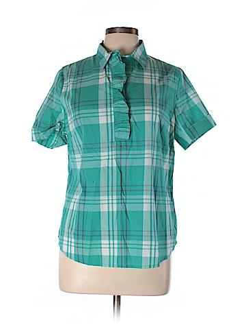 Lands' End Short Sleeve Blouse Size M (Petite)