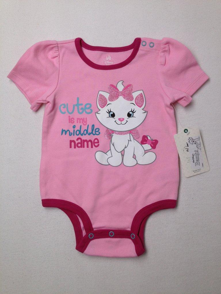 Disney Baby Girls Short Sleeve Onesie Size 2