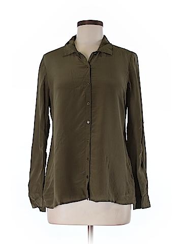 Eileen Fisher Long Sleeve Silk Top Size S (Petite)