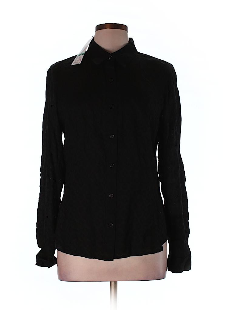 Jones New York Sport Women Long Sleeve Button-Down Shirt Size L