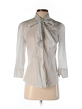 Norma Kamali 3/4 Sleeve Button-Down Shirt Size XS