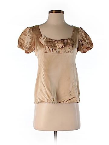 Nanette Lepore Short Sleeve Silk Top Size 2